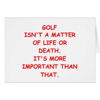 golf joke card
