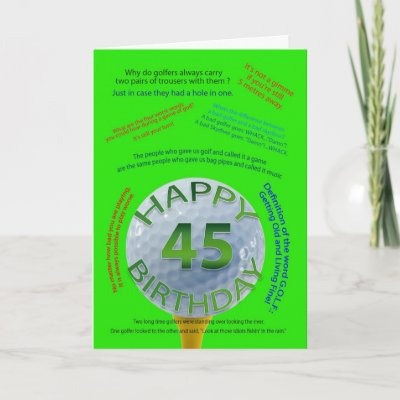 45 Year Old Birthday Card
