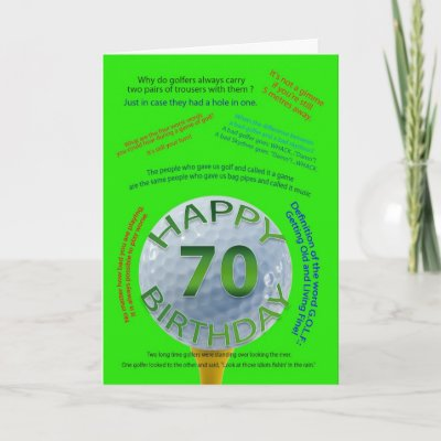 Golf Jokes Birthday Card For 60 Year Old