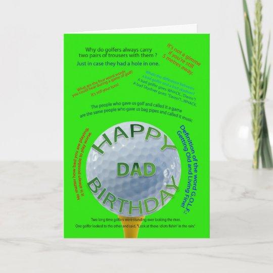 Golf Jokes Birthday Card For Dad Zazzle