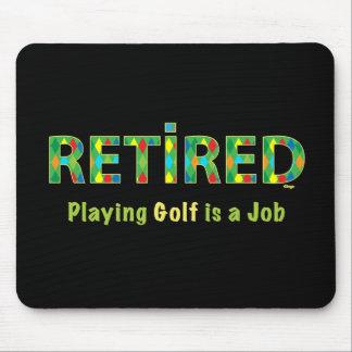 GOLF - jubilado, jugar a golf es mi cojín de ratón Tapetes De Raton