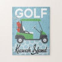 Golf Kiawah Island - Retro Vintage Jigsaw Puzzle