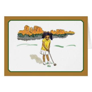 Golf Kids Cards, girl in southwest Card