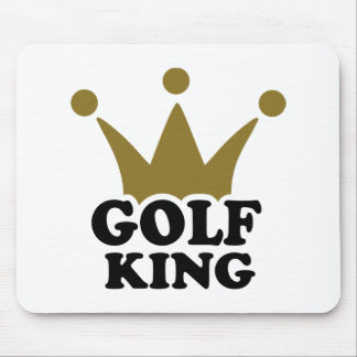Golf King crown Mouse Pad