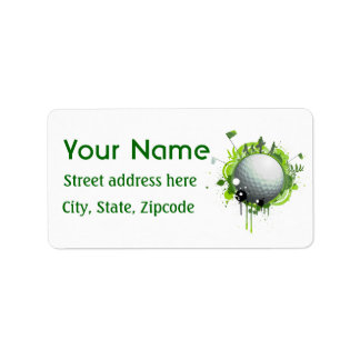 Golf Personalized Address Label