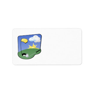 Golf Address Label