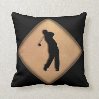 Golf Lady and Gentleman Throw Pillow