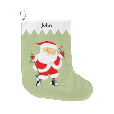 Beach Themed Golf Large Christmas Stocking