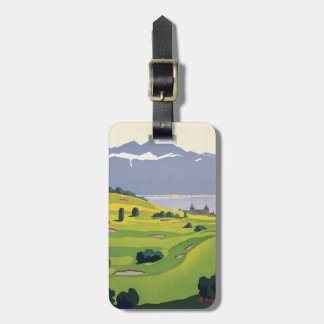 Golf Lausanne Switzerland Luggage Tag