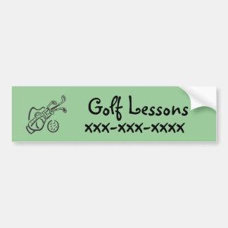 Golf Lessons Car Bumper Sticker