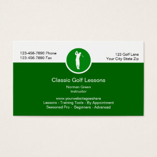 Golf Lessons Training Business Cards