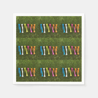 Golf Let's Par tee with  colourful tee Napkins