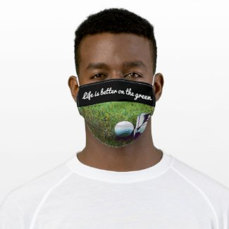 Golf life is better on the green with golf shoes cloth face mask