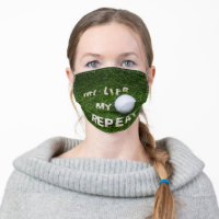 Golf life my golf repeat cloth face mask