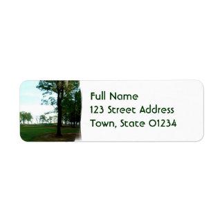 Golf Links Mailing Label