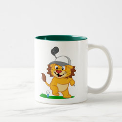 Two-Tone Mug with Golfing Lion design