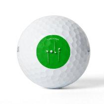 Golf Logo With Golf Ball Clubs Birdie Eagle Golfer