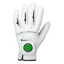 Golf Logo With Golf Ball Clubs Birdie Eagle Golfer Golf Glove
