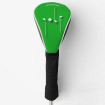 Golf Logo With Golf Ball Clubs Birdie Eagle Golfer Golf Head Cover