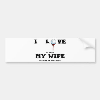 golf love bumper sticker