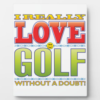 Golf Love Face Display Plaques