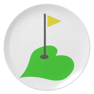 Golf Love Melamine Plate