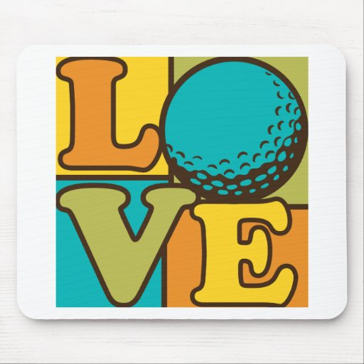 Golf Love Mouse Pad
