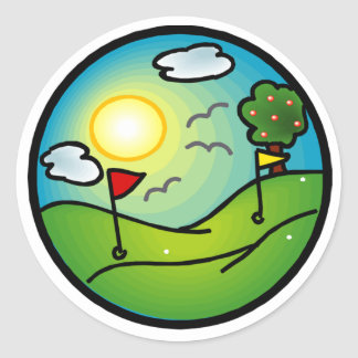 Golf Lover Classic Round Sticker