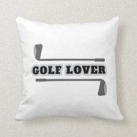 Golf lover pillow for golfers
