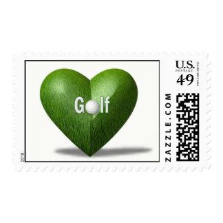 Golf Lover Postage Stamp