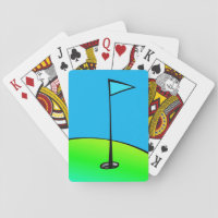 Golf Lovers Blue and Green Playing Cards