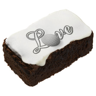 Golf Lover's Gift Party Ideas Chocolate Brownie