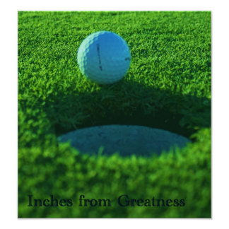 Golf Lovers Inches from Greatness Poster