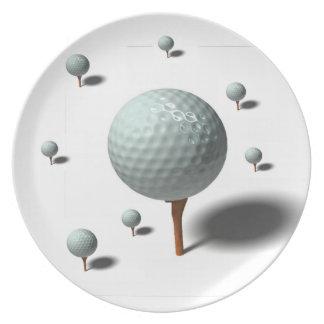 golf lovers melamine plate