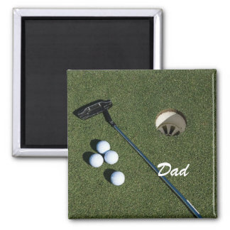 Golf Magnet-For Dad or Can change or remove name 2 Inch Square Magnet