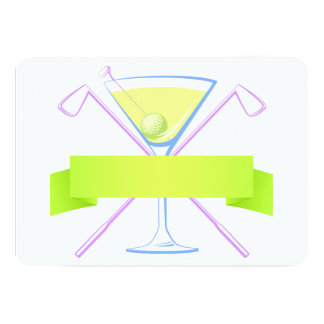 Golf Martini Card