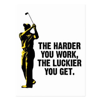 Golf - más difícilmente usted trabaja más afortuna postal