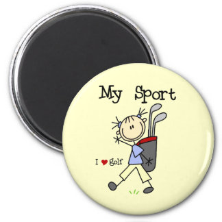 Golf mi deporte imán redondo 5 cm