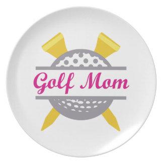 Golf Mom Dinner Plate