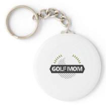 Golf Mom Funny Player Golf Mothers Day Gifts Keychain