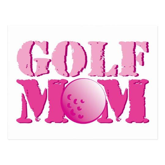 Golf Mom Pink Postcard