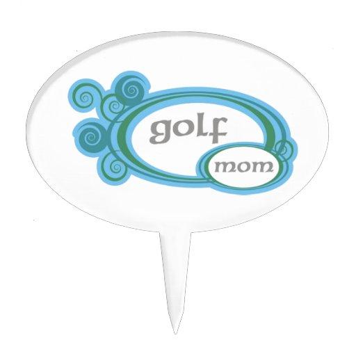 Golf Mom Swirl Cake Picks