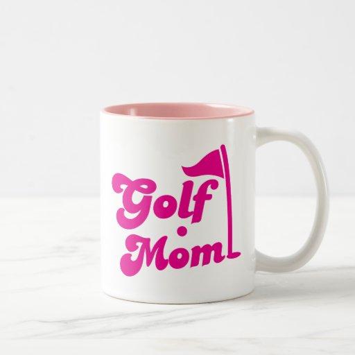 Golf Mom Two-Tone Coffee Mug