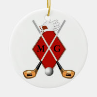 Golf Monogram Ornament