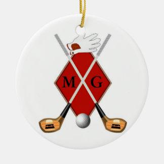 Golf Monogram Ornament