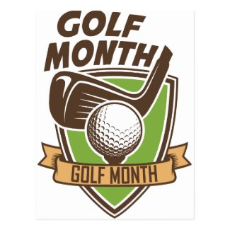 Golf Month Postcard