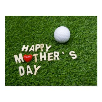 Golf Mother's Day gift for mother with golf ball Postcard