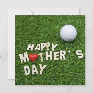 Golf Mother's Day with golf ball on green grass