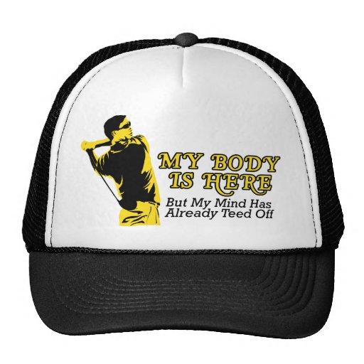Golf - My Mind Already Teed Off Mesh Hat