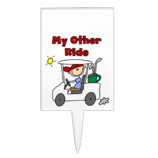 Golf My Other Ride Cake Topper